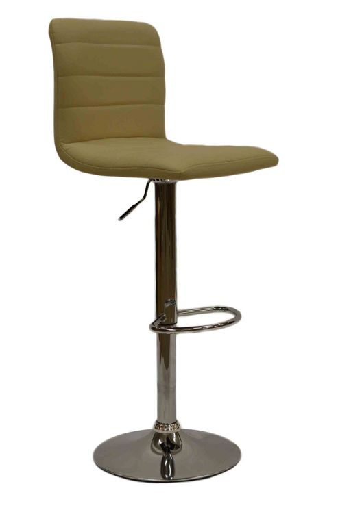 Horizon Cream Faux Leather Bar Stool