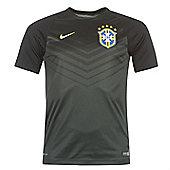 2014-15 Brazil Nike Training Shirt (Black) - Black