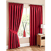 Swirl Ready Made Pencil Pleat Curtains - Fully Lined - 4 Colours Available - Red