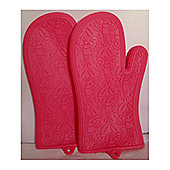 Wellbake NoBurn Miracle Oven Gloves Pair - Pink