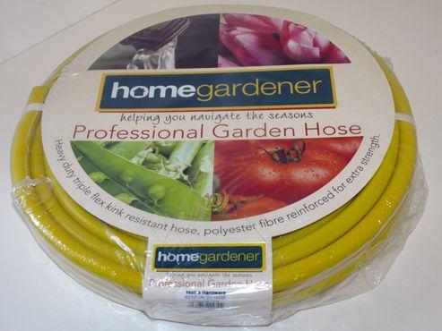 Home Gardener G0764 Reinforced Hose Yellow 15M