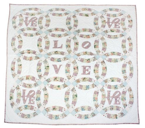 Woven Magic Love-Calico Pastel Crib Throw