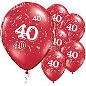 11' 40th Around Ruby Red (25pk)