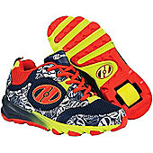Heelys Race Kids Heely Shoe - Navy/Burnt Orange/Lime - Multi