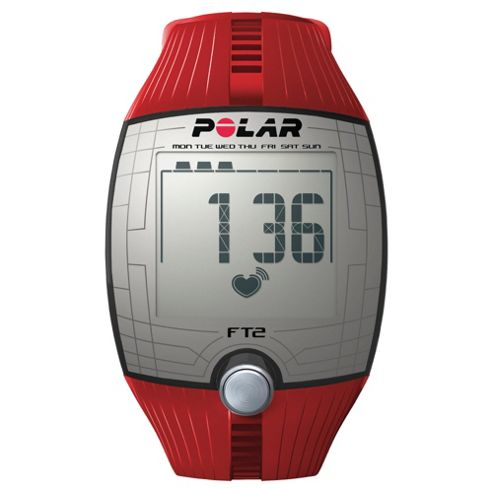 Polar FT2 Sports Watch/Heart Rate Monitor, Red