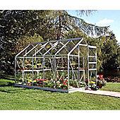 Halls 10x6 Popular Aluminium Greenhouse + Base - Toughened Glass
