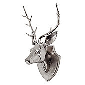 Large Aluminium Stags Head on a Plaque Feature Wall Art