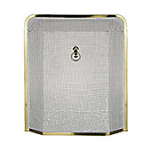 Premier Housewares Edge Fire Screen - Gold