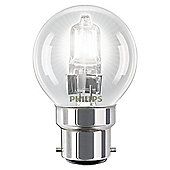 Philips EcoClassic Halogen P45 42 W B22 Bayonet Cap Warm White Light Bulb
