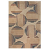 Husain International Comfort Beige Tufted Rug - 180cm x 120cm (5 ft 11 in x 3 ft 11 in)