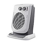 De'longhi HVF3533B 3kw Upright Oscillating Fan Heater, White