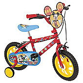 "Disney Mickey Mouse 12"" Kids' Bike with Stabilisers"