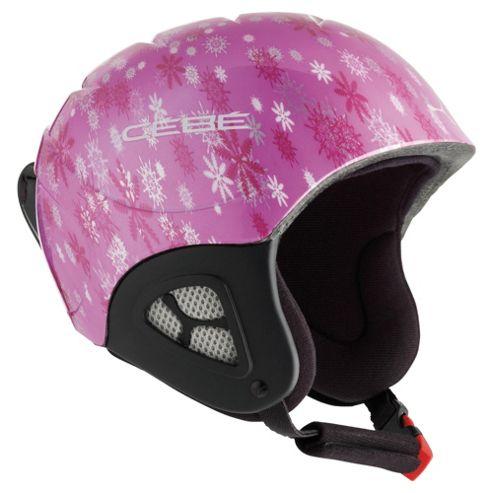 Cebe Pluma Junior Basics Ski Helmet Pink Snowflakes 48-50cm