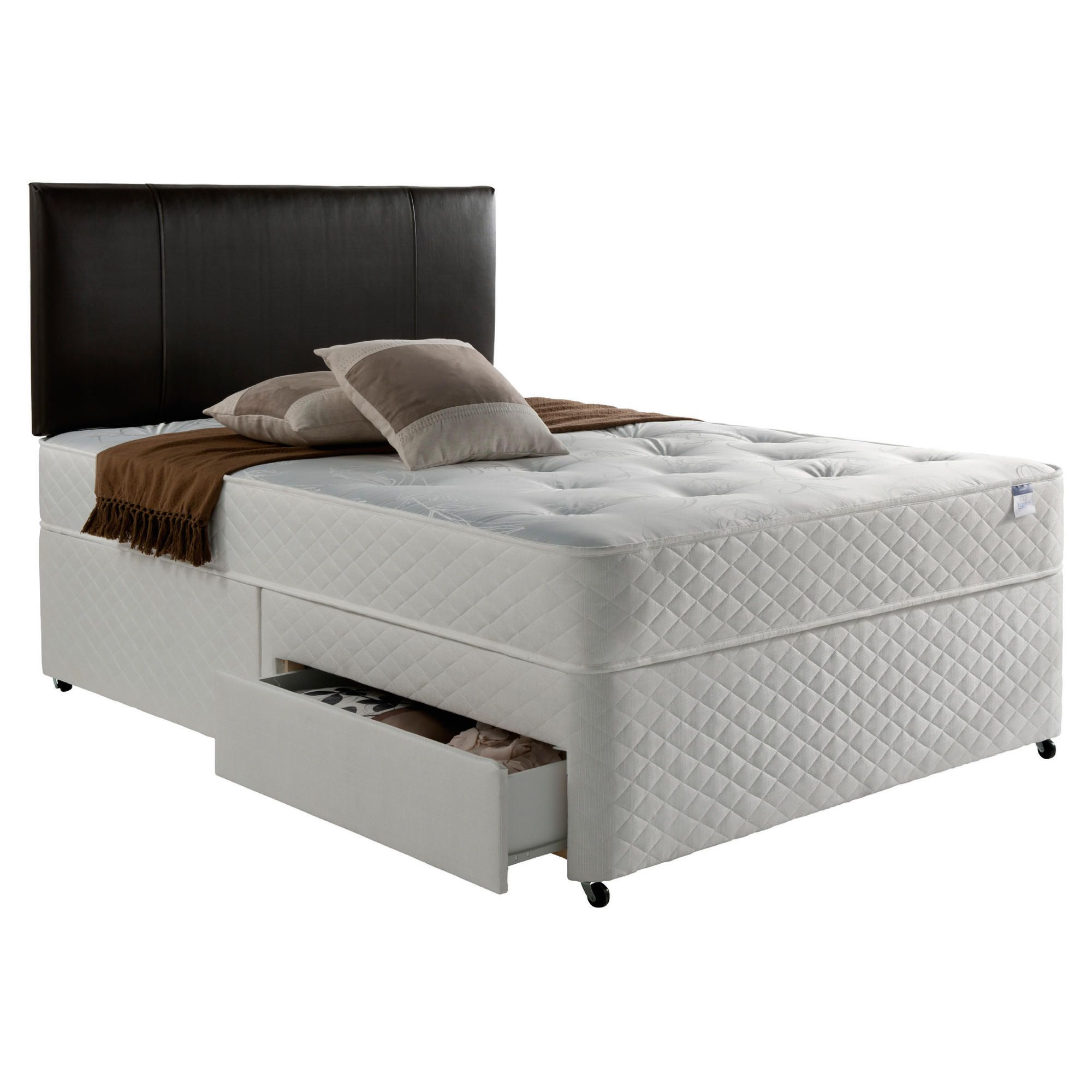 Silentnight Miracoil Comfort Ortho Tuft 4 Drawer Super King Divan at Tesco Direct