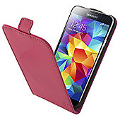 Tortoise™ Genuine Leather Flip Case Samsung Galaxy S5 Pink
