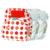Tots Bots Mini 3 Pack Easyfit Fox n Spots Reusable Nappies