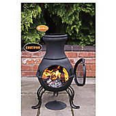 Billie Small Cast Iron Chimenea - Black