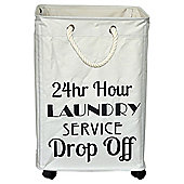 Laundry Hamper On Wheels Slim Line