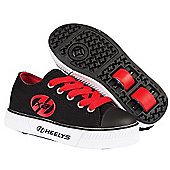 Heelys Pure Black/Red Kids Heely X2 Shoe - Black