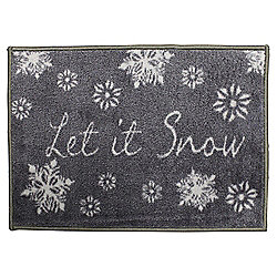 Washable Indoor Christmas Mat - Let it snow