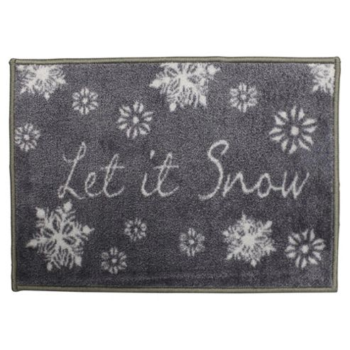 Buy washable indoor christmas mat let it snow from our for Best doormat for snow