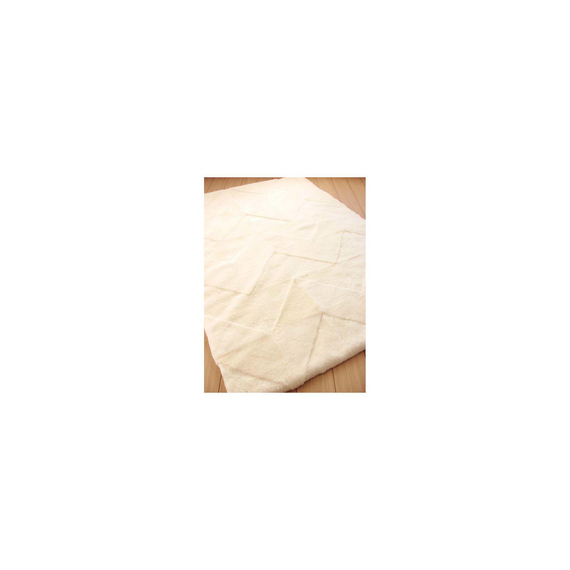 Bowron Sheepskin Shortwool Design Vintage 42 White Rug - 240cm H x 65cm W x 1cm D
