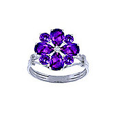 QP Jewellers 2.43ct Amethyst Rafflesia Ring in 14K White Gold