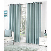 Fusion Sorbonne Eyelet Lined Curtains Duck Egg Blue - 66x72