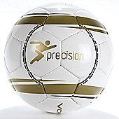 Precision Corona Match Football White / Gold / Black Size 5