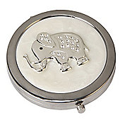 Crystal Elephant Compact Mirror