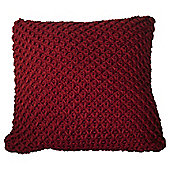 Chunky Knit Cushion Red