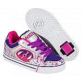 Heelys Motion Plus Silver/Pink/Purple Drip Kids Heely X2 Shoe - Pink