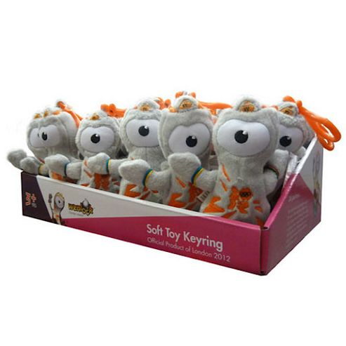 London 2012 24 Wenlock Soft Toy Key Rings Value Pack
