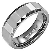 New Mens 8mm Polished Tungsten Ring In Velvet Ring Box