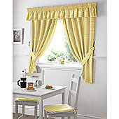 Gingham Kitchen Curtains - Yellow