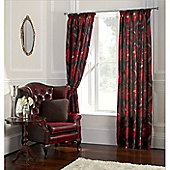 Tatton Red Curtains - 90X90 Inches