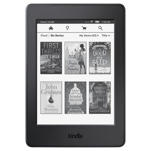 "Amazon Kindle Paperwhite, 6"" High Resolution display eReader, 4GB with WiFi – Black"