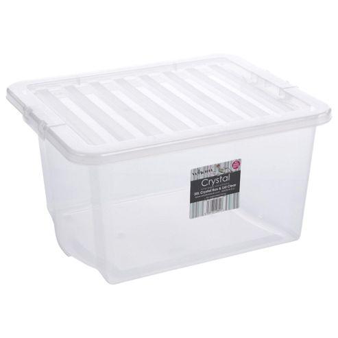 buy 35l storage box from our storage baskets bags range. Black Bedroom Furniture Sets. Home Design Ideas