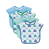 Mothercare Boat Bibs- 4 Pack