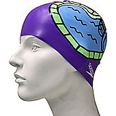 Speedo Slogan Junior Silicone Swimming Cap - Purple