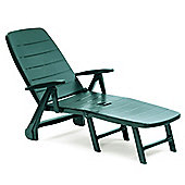 Roma Forest Green Lounger