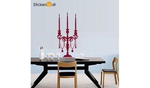 Candle Light Wall Sticker, Burgundy