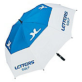 John Letters Mens Tour Dual Canopy Umbrella - Blue