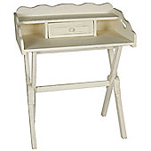 Papa Theo Folding Writing Bureau in Antique White finish