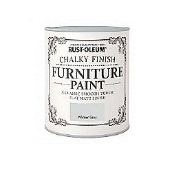 Rust-Oleum Chalky Furniture Paint - Winter Grey - 125ML