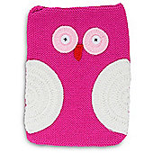 Quirky Character Knitted iPad Cover - Pink Owl