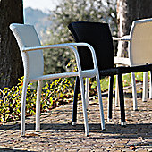 Varaschin Cafeplaya Dining Chair by Varaschin R and D (Set of 2) - White - Without