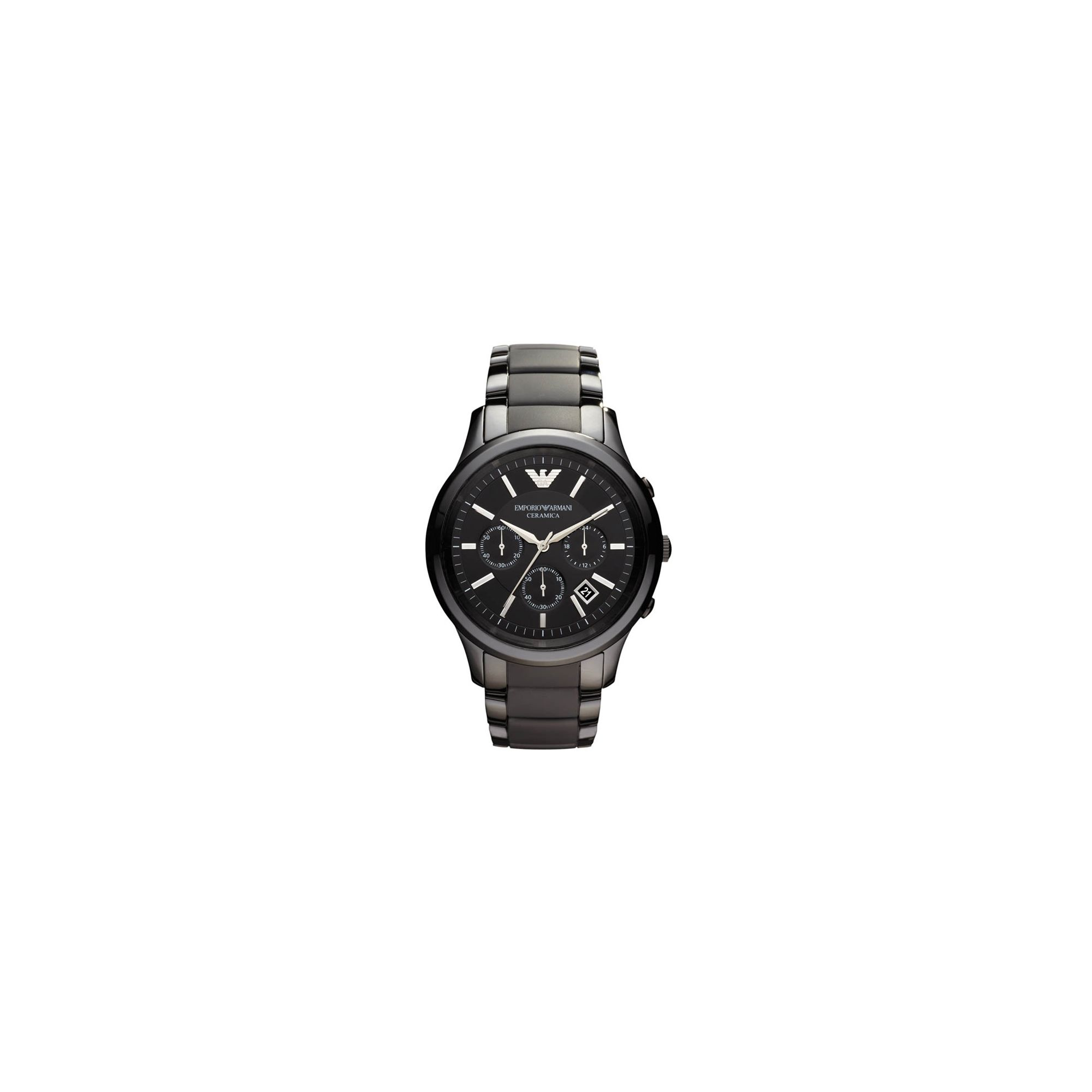 Emporio Armani Black Ceramica Chronograph Watch AR1452 at Tesco Direct