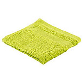 Tesco Basic Face Cloth, Lime