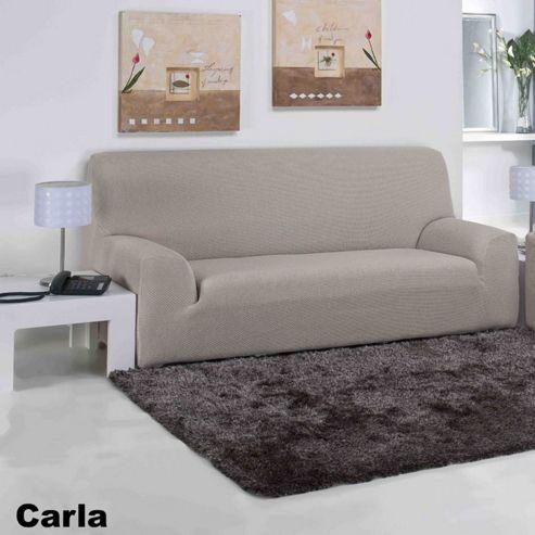 Buy Elainer Home Living Carla 2 Seater Sofa Cover Beige